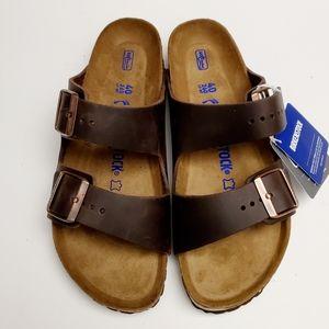 Birkenstock Arizona Habana Leather Sandals 40